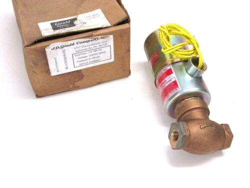"""GOULD PISTON PILOT OPERATED SOLENOID VALVE, AIR & WATER, 1/4"""", 5-150 PSI, QR-3V"""