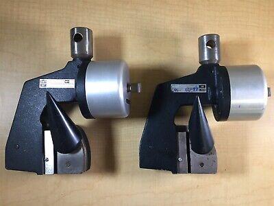 Instron Pneumatic Fiber Grip Set 90psi 350lb Tensile Tester 2pcs Astm D7269 M2
