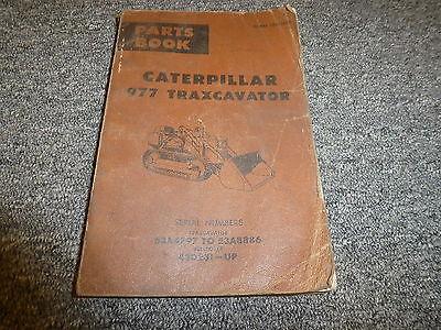Caterpillar Cat 977 Traxcavator Crawler Loader Parts Catalog Manual Book