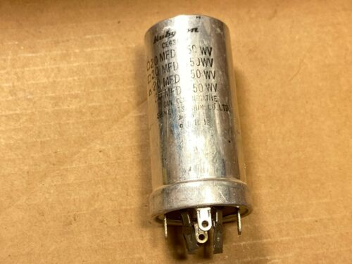 NOS Vintage Rubycon 20/20/20/20 uf 450v Quad Can Capacitor Tube Amp Cap Working