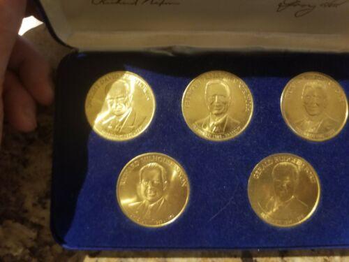 Republican Presidential 5 Coin Set - Reagan, Bush, Nixon, Ford, Eisenhower
