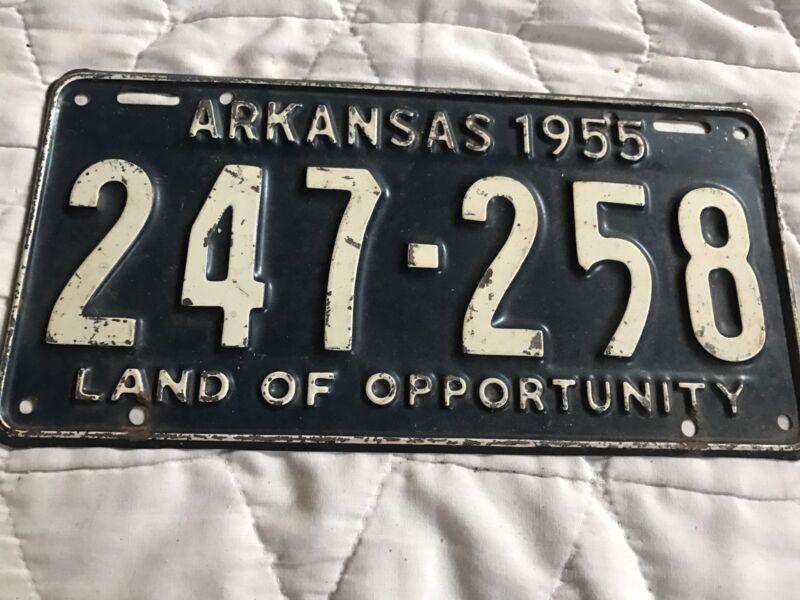 1955 Arkansas License Plate 247 258