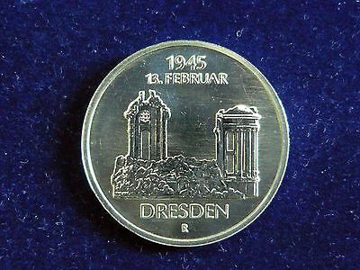 DDR.  5 Mark, 1985 A, Frauenkirche Dresden, Cu/Ni/Zn.! orig.! St.!
