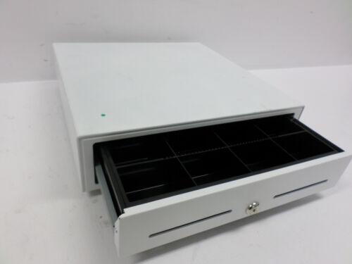 """Star Micronics 16.5"""" x 16"""" White Printer Driven Cash Drawer w Cash Tray 37965590"""