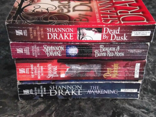 Shannon Drake lot of 4 Alliance Vampires series Paranormal Romance Paperback