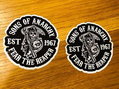 2x SONS OF ANARCHY Aufkleber Sticker Chopper Club MC SOA Samcro 1%...