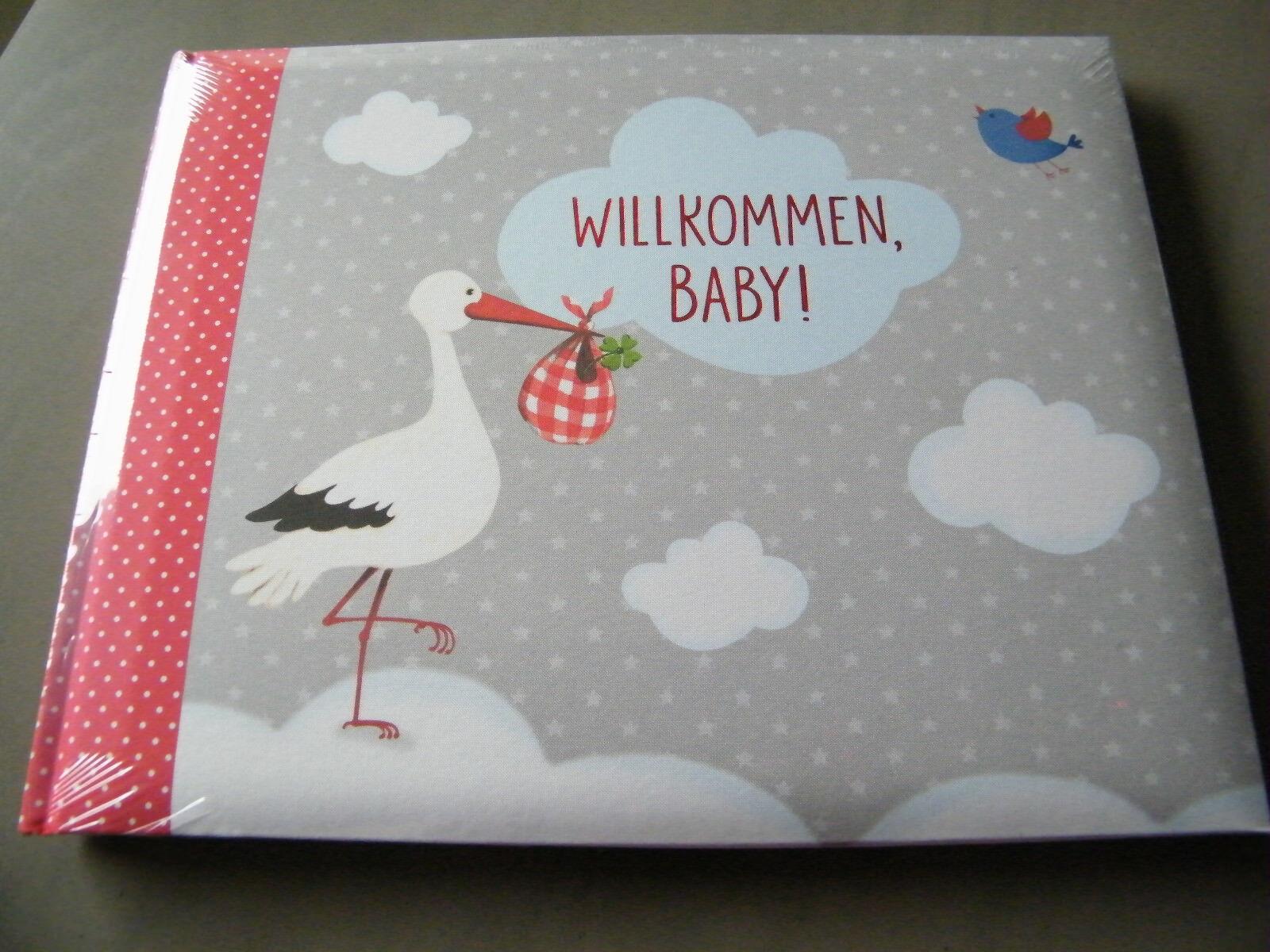 NEU Eintragalbum Fotoalbum Baby Glück Willkommen Baby ! Coppenrath Spiegelburg