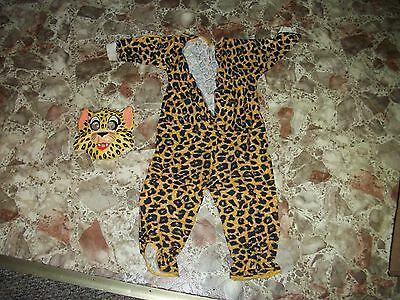 Vintage LEOPARD Halloween costume with box child size TINY TOT  3-5