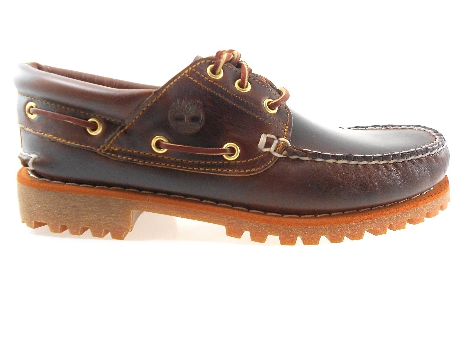 TIMBERLAND 6500A TFO CLASSIC MEN'S LUG LEATHER BOAT SHOES W(WIDE)