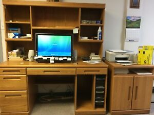 Computer Desk and Printer Stand