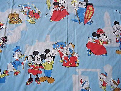 Disney Mickey Mouse Twin Sheet Set Vintage 1960's