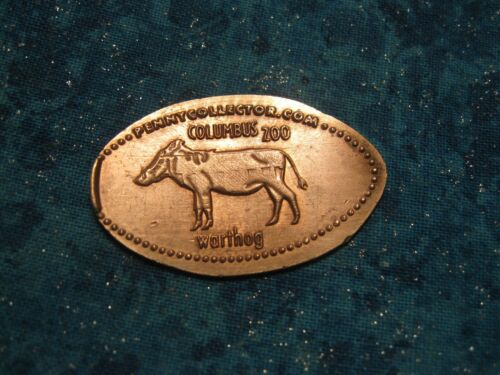 WARTHOG COLUMBUS ZOO COPPER Elongated Penny Pressed Smashed 13