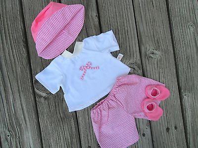 Kleidung + Schuhe für little Baby Puppe Puppen Gr. 32 - 48 cm rosa Puppenkleider