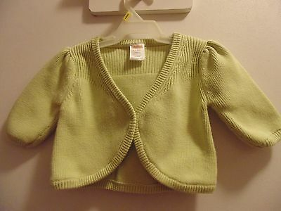 Gymboree infant girl's 3-6 mo. size green Bolero 100% Cotton long sleeved