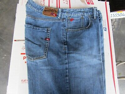 Vintage QUICKSILVER Relaxed Fit Men's Blue Jeans 36W 28L Profesionally Hemmed