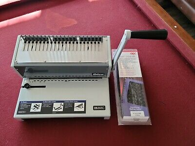 Ibico Ibimatic Heavy Duty Manual Comb Binding Punch Machine Ch-8212 Combs