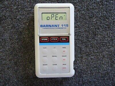 Barnant 115 Thermocouple Thermometer Model No. 600-2810