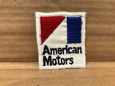 "VINTAGE ORIGINAL 1960'S EMBROIDERED AMERICAN MOTORS JACKET PATCH 2.75"" X 2.5"""