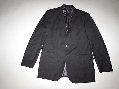 Joseph Abboud Mens Suit Jacket Size 42 Long Charcoal Gray Loro Piana Wool Blazer