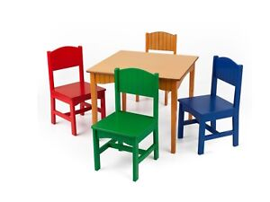 Nantucket Table & 4 Primary Chairs by Kidkraft