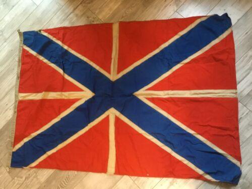 Rare !!!! Russia Jack  Navy Wool Flag Fleet Original