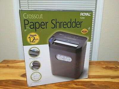 Royal Cd Credit Card 12 Sheet Crosscut Paper Shredder