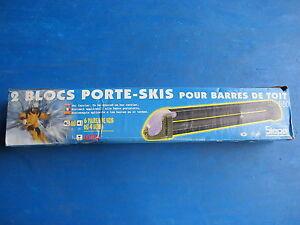 2 blocs de porte skis siepa avec antivol cl pour barres de toit b60 ebay. Black Bedroom Furniture Sets. Home Design Ideas