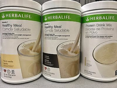 New 2X Herbalife Formula 1 Healthy Meal   1X  Protein Drink Mix   All Flavors