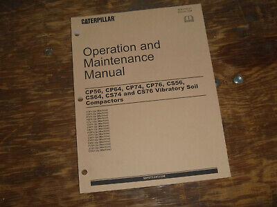 Cat Caterpillar Cs74 Vibratory Compactor Owner Operator Maintenance Manual C7f1-