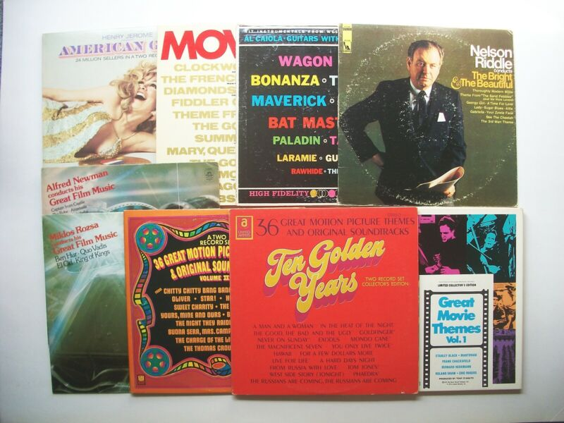 Lot of 14 Movie & TV Themes and Soundtrack Compilation LPs