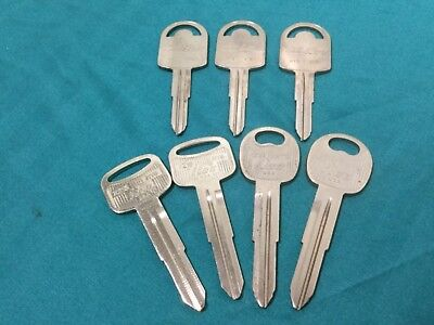 Hyundai By Ilco Automotive Key Blanks Set Of 7 - Locksmith