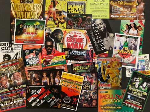 24 Classic1990s 2000s Reggae Party Flyers - NYC/Brooklyn/Bronx/Beverly Hills/LA