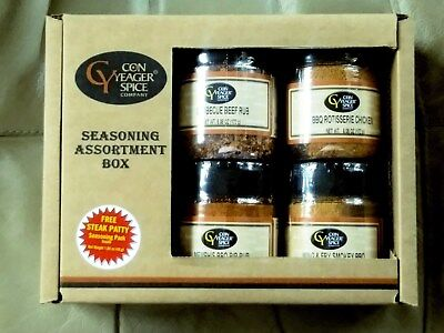 (Spice, Seasoning Assortment Box, BBQ Rib,Chicken, Beef Rub, Wing & Fry Smokey )