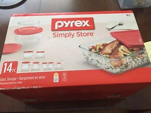 Never opened . Brand new Pyrex Glass Torage