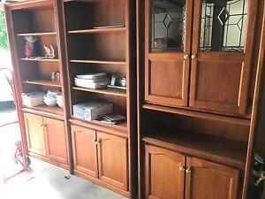 One solid mahogany bookcase and drink cabinet Essendon Moonee Valley Preview