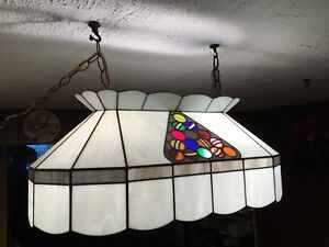 HandMade Stained Glass Pool Table Lamp.