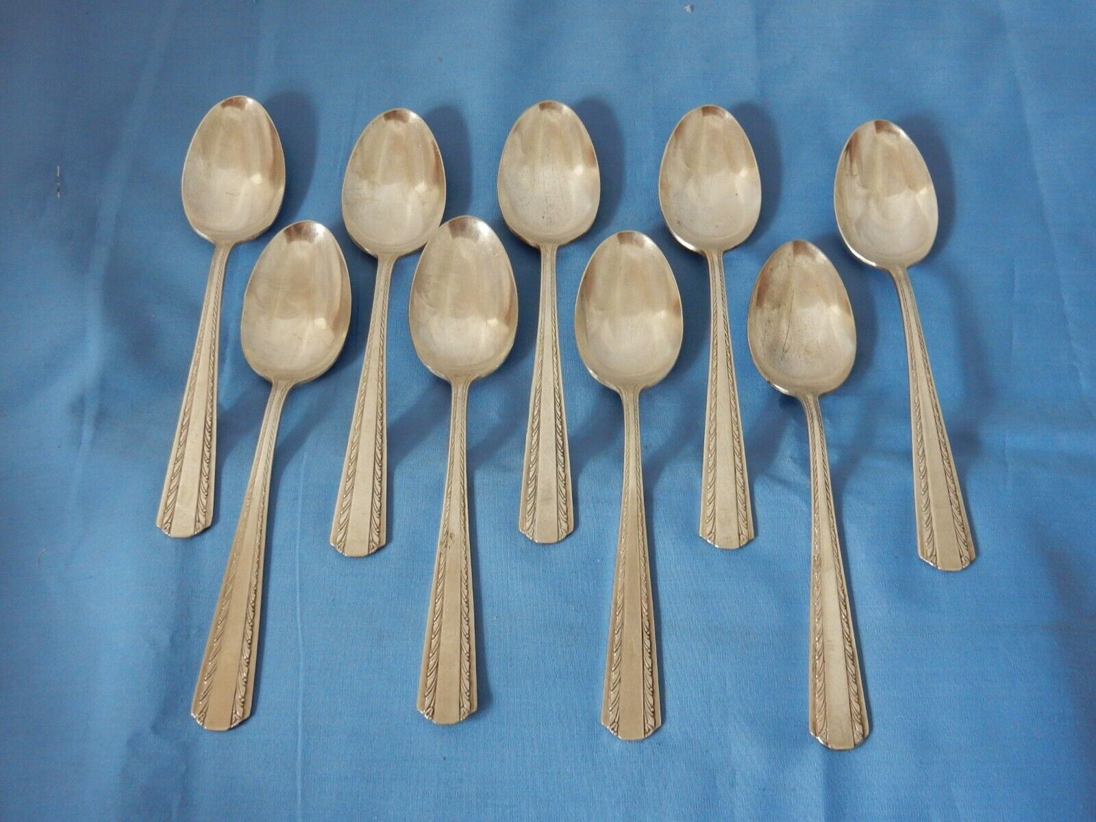 American Silver IS Silverplate Camelot Harvest 1964 Oval Place Soup Spoons - 9 - $7.99