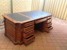 Designer Double Site Office Desk with Chesterfield Chair Koondoola Wanneroo Area Preview