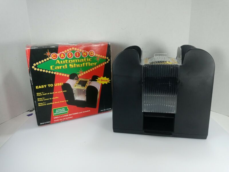 6 Deck Automatic Card Shuffler Battery Operated Electric Shuffler Great for Home