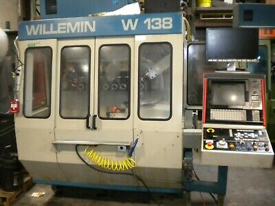 Willemin W-138 Cnc Milling Machine Multi Axis Tooling And Spares Very Gd Cond