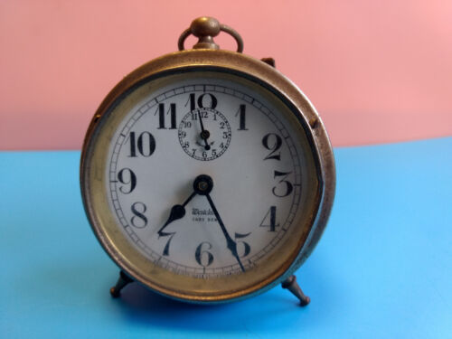 Old Vtg Western Clock Co. Westclox Baby Ben Peg Leg Alarm Clock Made In USA