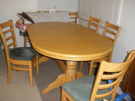 Table and 6 suede chairsDining TablesGumtree Australia