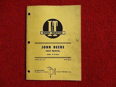 John Deere Tractor Series 70 Diesel Repair Manual