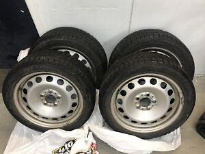 4 pneus d'hiver 205 50 17 Pirelli sur rims BMW