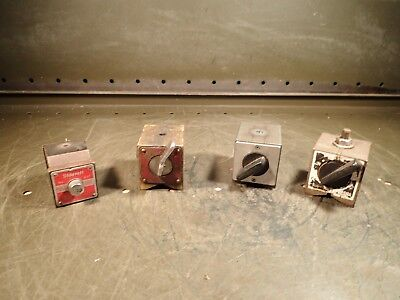 4 Piece Lot Magnetic Mag Indicator Bases Starrett 657 Enco 300 Inspection Tools