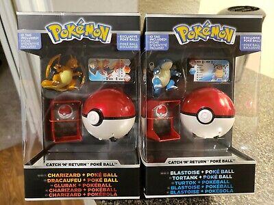 Pokemon Charizard Catch n Return Pokeball Blastoise Poke Ball Trainer's Choice