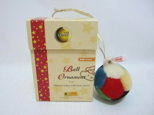 STEIFF Gym Ball Mohair Ornament 2006 w Box Limited Edition 037429