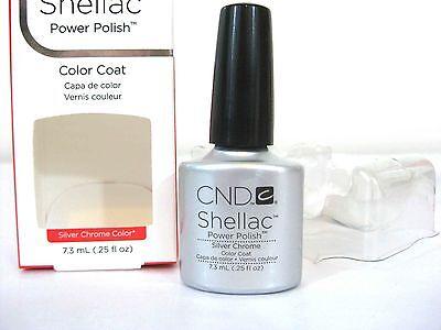 Cnd Shellac Power Nail Polish Silver Chrome Color   Nib      Buy 5 Get 1 Free