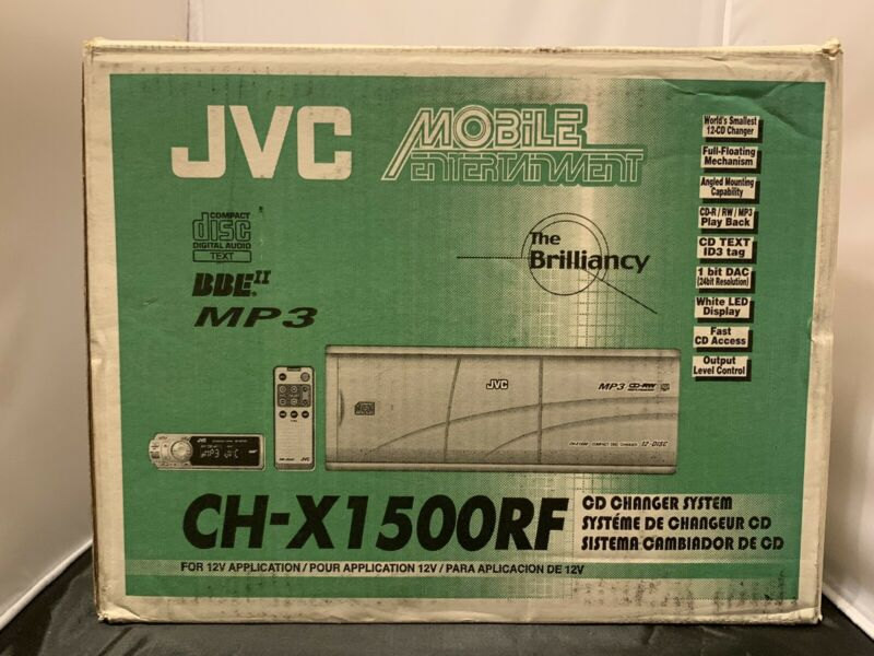 JVC CH-X1500RF Compact Disc Changer 12 Disc MP3 CD-RW Playback - New Open Box