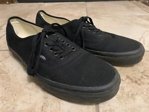 Men's Classic Vans Black Size 11 - Like New WOW